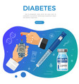 vaccination diabetes immunization banner vector image