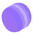 violet sweet macaroon icon isometric style vector image vector image