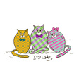 with three funny fat cats vector image