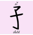 chinese character child vector image