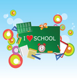 school green table with symbol vector image