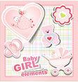 baby girl items vector image