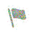 abstract flag splash vector image