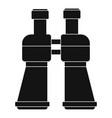 binoculars icon simple style vector image