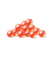 3d red caviar delicacy food for restaurant vector image vector image