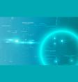 abstract circle line digital technology vector image
