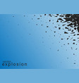 abstract explosion of black vector image vector image