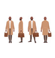 african american bald man dressed in elegant