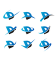 Alphabet D Logo Icons