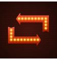 arrows cinema signage light bulbs frame and neon