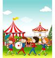 Band playing at the circus vector image
