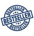 bestseller blue round grunge stamp vector image vector image