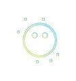 blank emoji icon vector image