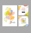 bright and color templates for cards posts on vector image vector image