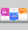 brochure modern abstract geometric frame banner vector image