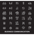 business communication editable line icons vector image vector image