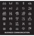 business communication editable line icons