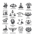 business management icons pack 45 icons for vector image vector image