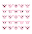cartoon kawaii emoticons set vector image vector image