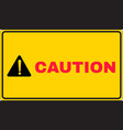 caution sign printed vector image