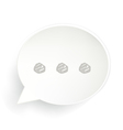 Chat Bubble vector image vector image