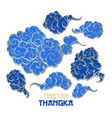 chinese golden and blue clouds collection vector image