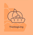 classic pie at thanksgiving day postcard vector image