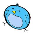 comic cartoon bird vector image vector image