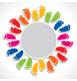 creative design with foot stock vector image vector image