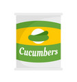cucumbers tin can icon flat style vector image