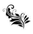 Decorative floral design element vector image vector image