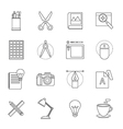 designer tool thin line icon vector image