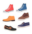 different kind shoes vector image vector image