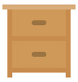 drawer icon with flat style eps10 vector image