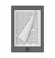 ereader mockup realistic style vector image vector image