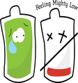 Feeling Mighty Low vector image vector image