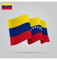 Flat and waving Venezuelan Flag vector image vector image