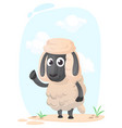 funny cartoon sheep vector image vector image