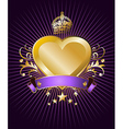 Golden Heart label vector image
