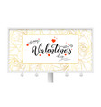happy valentines day golden buds of roses vector image