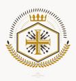 heraldic sign element heraldry emblem insignia vector image vector image