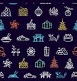 hong kong signs seamless pattern background vector image