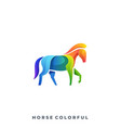 horse colorful template vector image