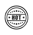 Hot damaged stamp vector image vector image
