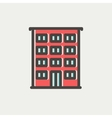Hotel thin line icon vector image
