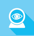 icon eye with a long shadow vector image vector image