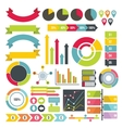 Infographic design parts icons set flat style vector image vector image