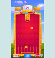 interface mobile arcade game with coins vector image