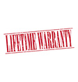 lifetime warranty red grunge vintage stamp vector image vector image