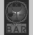 lounge bar menu geometric pattern design vector image